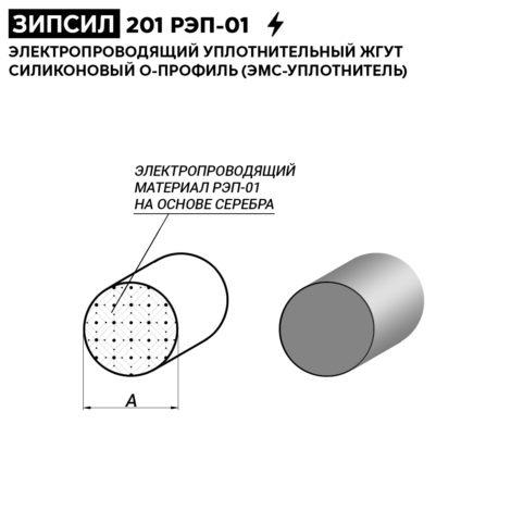 электропроводящий УПЛОТНИТЕЛЬНЫЙ ЖГУТ силиконовый О-профиль (ЭМС-Уплотнитель)